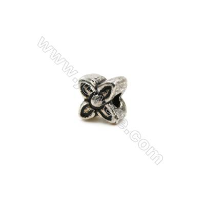 Thai Sterling Silver Beads  Flower  Size 6x6mm  Hole 1.5mm  20pcs/pack