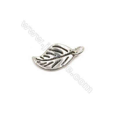 Thai Sterling Silver Pendants  Leaf  Size 10x19mm  12pcs/pack