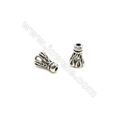 Thai Sterling Silver Beads  Badminton  Size 6x9mm  Hole 2mm 30pcs/pack