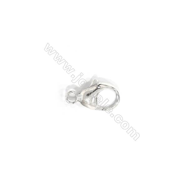 Lobster clasp in 925 sterling silver, 7x13 mm, x 15 pcs