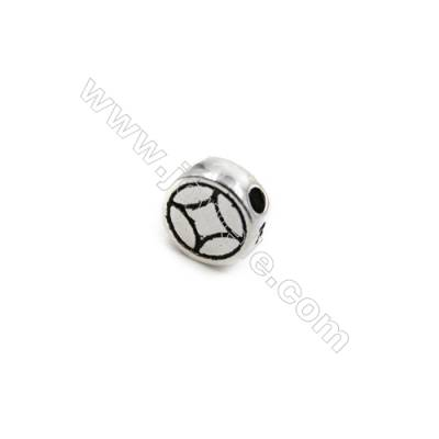 Thai Sterling Silver Beads  Round  Diameter 6mm  Hole 1mm  40pcs/pack