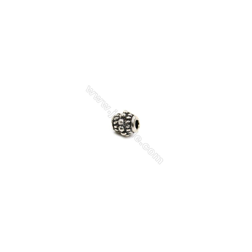 Thai Sterling Silver Beads  Column  Size 5x5mm  Hole 1.5mm  30pcs/pack