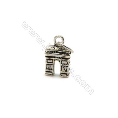 Thai Sterling Silver Pendants  Triumphal arch  Size 12x7mm  12pcs/pack