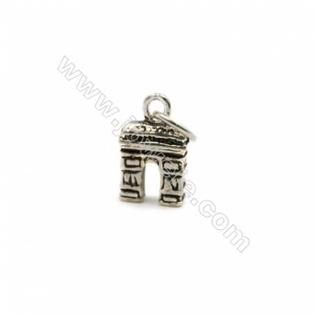 Thai Sterling Silver Pendants  Triumphal arch  Size 12x7mm  12pcs/pack