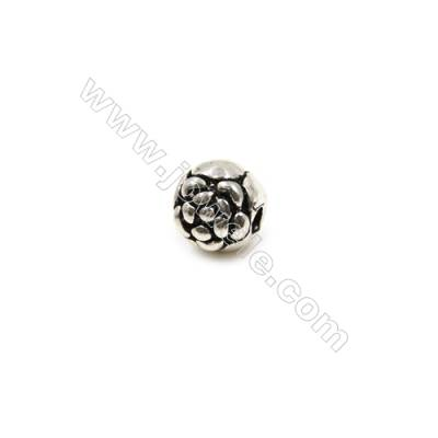 Thai Sterling Silver Beads  Round  Size 5x5mm  Hole 1.5mm  20pcs/pack