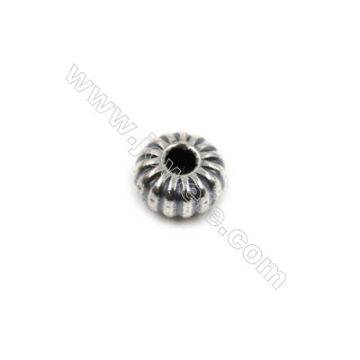 Thai Sterling Silver Beads  Round  Diameter 8mm  Hole 1.5mm  30pcs/pack