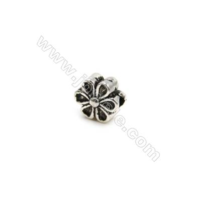 Thai Sterling Silver Beads  Flower  Size 6x6mm  Hole 1mm  30pcs/pack
