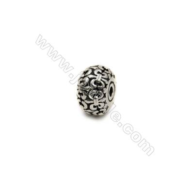 Thai Sterling Silver Beads  Flat Round  Diameter 10mm  Hole 1.5mm  10pcs/pack