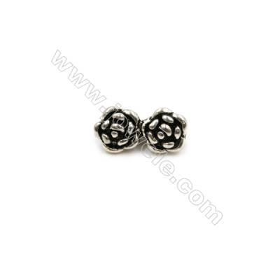Thai Sterling Silver Connectors  Flower  Size 11x5mm  Hole 1mm  25pcs/pack