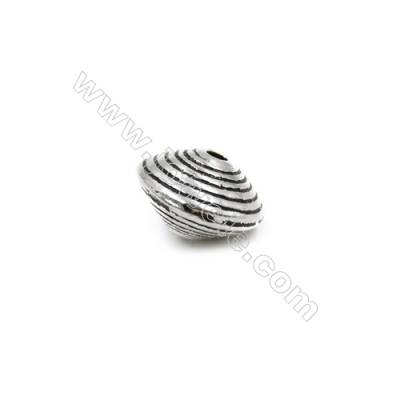 Thai Sterling Silver Beads  Gyro  Size 8x12mm  Hole 1.5mm  8pcs/pack
