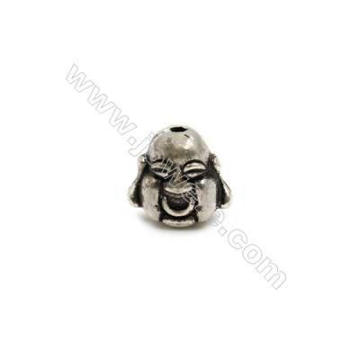 Thai Sterling Silver Beads  Maitreya  Size 11x12mm  Hole 1.5mm  6pcs/pack
