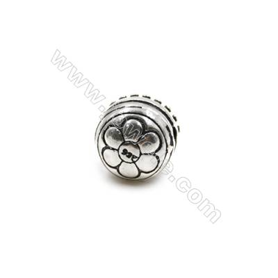Thai Sterling Silver Beads  Lotus  Size 10x10mm  Hole 1.5mm  8pcs/pack