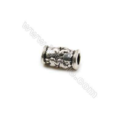 Thai Sterling Silver Beads  Cylinder  Size 5x8mm  Hole 2mm  30pcs/pack