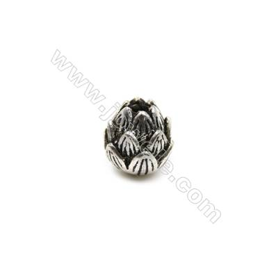 Thai Sterling Silver Beads  Lotus  Size 8x8mm  Hole 1.5mm  10pcs/pack