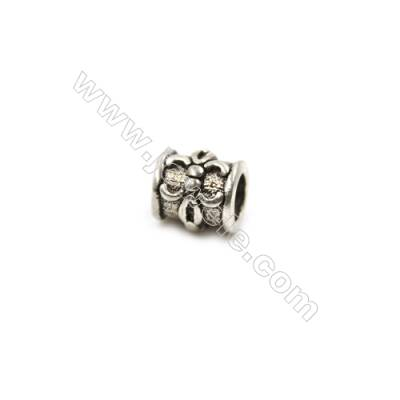 Thai Sterling Silver Beads  Column  Size 5x6mm  Hole 3mm  30pcs/pack