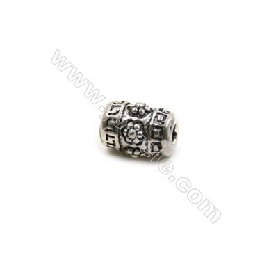 Thai Sterling Silver Beads  Cylinder  Size 5x7mm  Hole 2mm  30pcs/pack