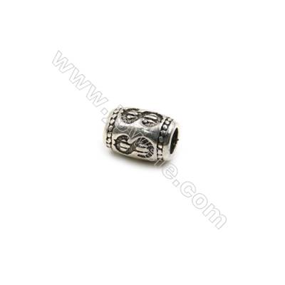 Thai Sterling Silver Beads  Column  Size 5x7mm  Hole 2mm  30pcs/pack