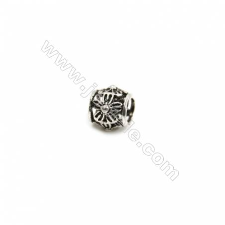 Thai Sterling Silver Beads  Column  Size 5x6mm  Hole 2.5mm  60pcs/pack