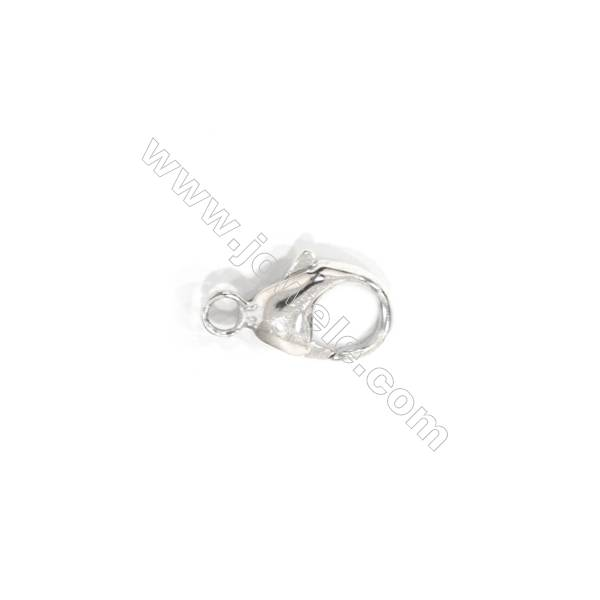 925 Sterling silver lobster clasp, 9x16mm, x 10 pcs
