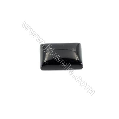 Natural Black Agate Gemstone Cabochons Rectangle-YT1014  Size 10x14mm  50pcs/pack