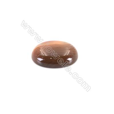 Oval shape natural Carnelian cabochon Size 15x20mm 10pcs/pack