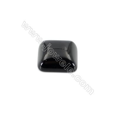 Natural Flat Back Black Agate Gemstone Cabochons Square-YT20  Size 20x20mm 20pcs/pack