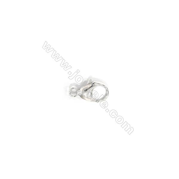 Lobster clasp in 925 sterling silver, 5x9 mm, x 30 pcs