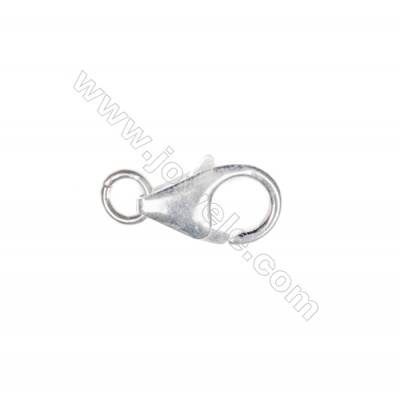 Lobster clasp in 925 sterling silver, 8x12 mm, x 20 pcs