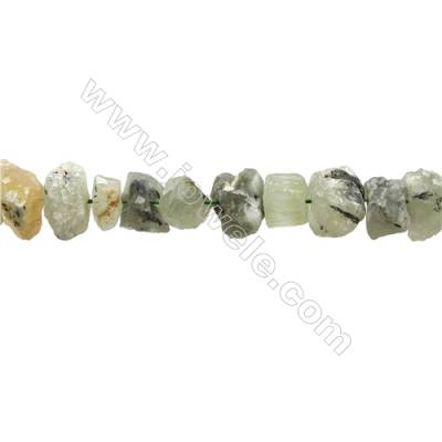 "Natural Prehnite Bead Strands  Nuggets  Size 11~20x14~21x7~16mm  Hole 1mm  15~16""/strand"