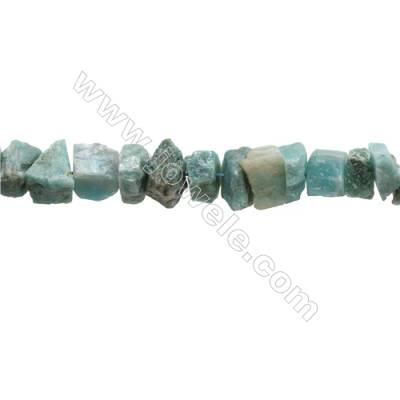 "Natural Amazonite Bead Strands  Nuggets  Size 9~18x10~18x6~11mm  Hole 1mm  15~16""/strand"
