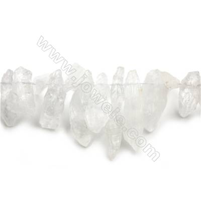 "Irregular Natural Rock Crystal Bead Strands  Size 55~15x19~7x14~5mm  Hole 0.7mm  15~16""/strand"