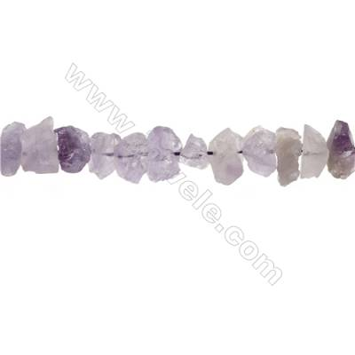 "Natural Amethyst Bead Strands  Nuggets  Size 13~17x11~14x4~10mm  Hole 1mm  15~16""/strand"