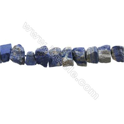 "Natural Lapis Lazuli Bead Strands  Nuggets  Size 10~17x11~15x8~11mm  Hole 1mm  15~16""/strand"