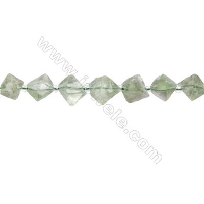 Natural Fluorite Bead Strands  Octahedron  Size 9x11mm  Hole 0.8mm  33 beads/pack  15~16""