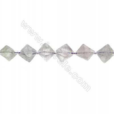 Natural Fluorite Bead Strands  Octahedron  Size 16x19mm  Hole 0.8mm  21 beads/pack  15~16""