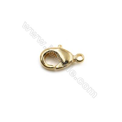 Brass Lobster Claw Clasps  Real Gold-Filled  Size 9.5x5.5mm  Hole 0.8mm  300pcs/pack