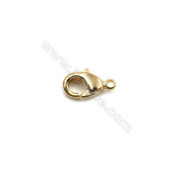 Barrel Shaped Clasps with Lobster Extension Chain White Gold 7mm internal