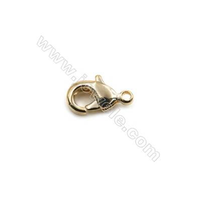 Brass Lobster Claw Clasps  Real Gold-Filled  Size 8.5x5mm  Hole 0.8mm  180pcs/pack