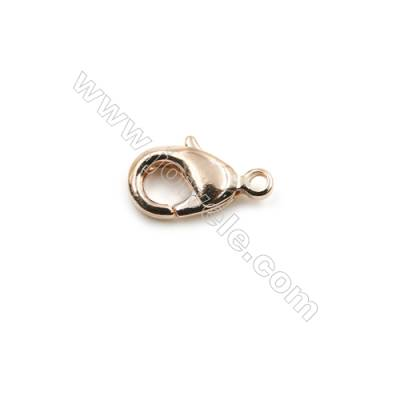 Brass Lobster Claw Clasps  Rose Gold  Size 12x6.5mm  Hole 1mm  300pcs/pack