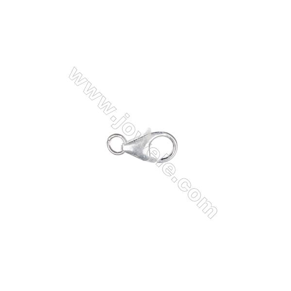 Sterling silver 925 lobster clasp, 4x8 mm, x 40 pcs