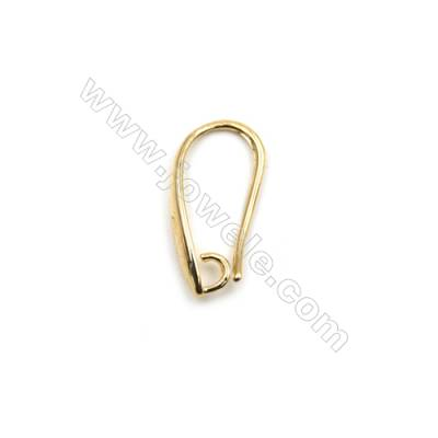 Brass Earring Hooks  Jewelry Findings  Real Gold-Filled  Size 17x8mm  280pcs/pack