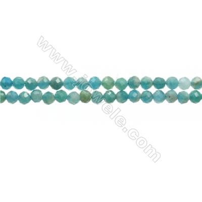Natural Brazil Amazonite Bead Strands  Round(Faceted)  Diameter 2mm  Hole 0.45mm  15~16''/strand