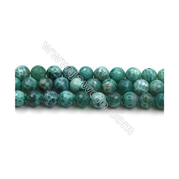 """10mm Gemstone Faceted Crackle Red Agate Stone Beads for Jewelry Making DIY 15/"""""""