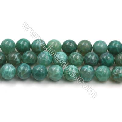 Natural Green Crackle Agate Bead Strands  Round(Faceted)  Diameter 16mm  Hole 1mm  15~16''/strand