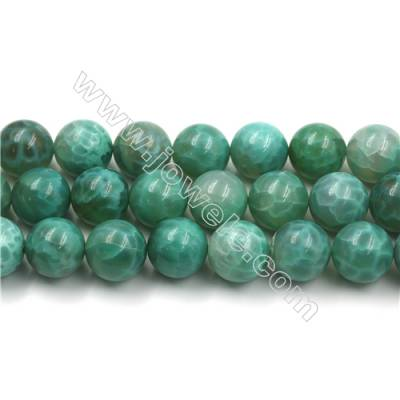 Natural Green Crackle Agate Bead Strands  Round(Faceted)  Diameter 18mm  Hole 1mm  15~16''/strand