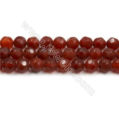 Natural Red Agate Round Bead Strands  Matte  Diameter 9mm  Hole 0.8mm  15~16''/strand