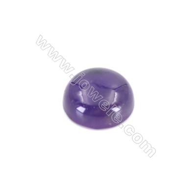 Natural flat back amethyst cabochon  round cabochon  Size 12mm  10pcs/pack