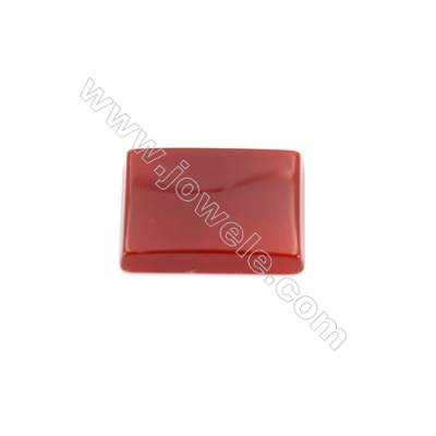 Natural red agate cabochon rectangle shape  Size 12x16mm 30pcs/pack