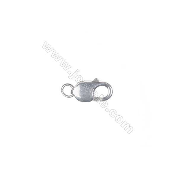 Lobster clasp in sterling silver, 3x8mm, x 40 pcs