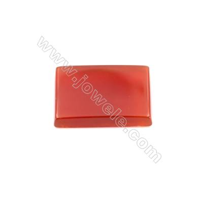 Natural red agate cabochon rectangle shape  Size 13x18mm 30pcs/pack